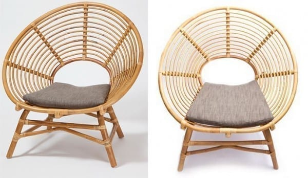 Loop Chair From Rattan Pole
