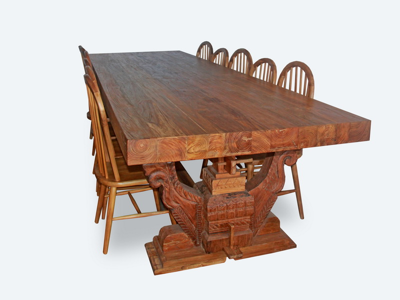 Montague Teak Wood Dining Table Yuni Bali Furniture Bali - Indonesian teak dining table