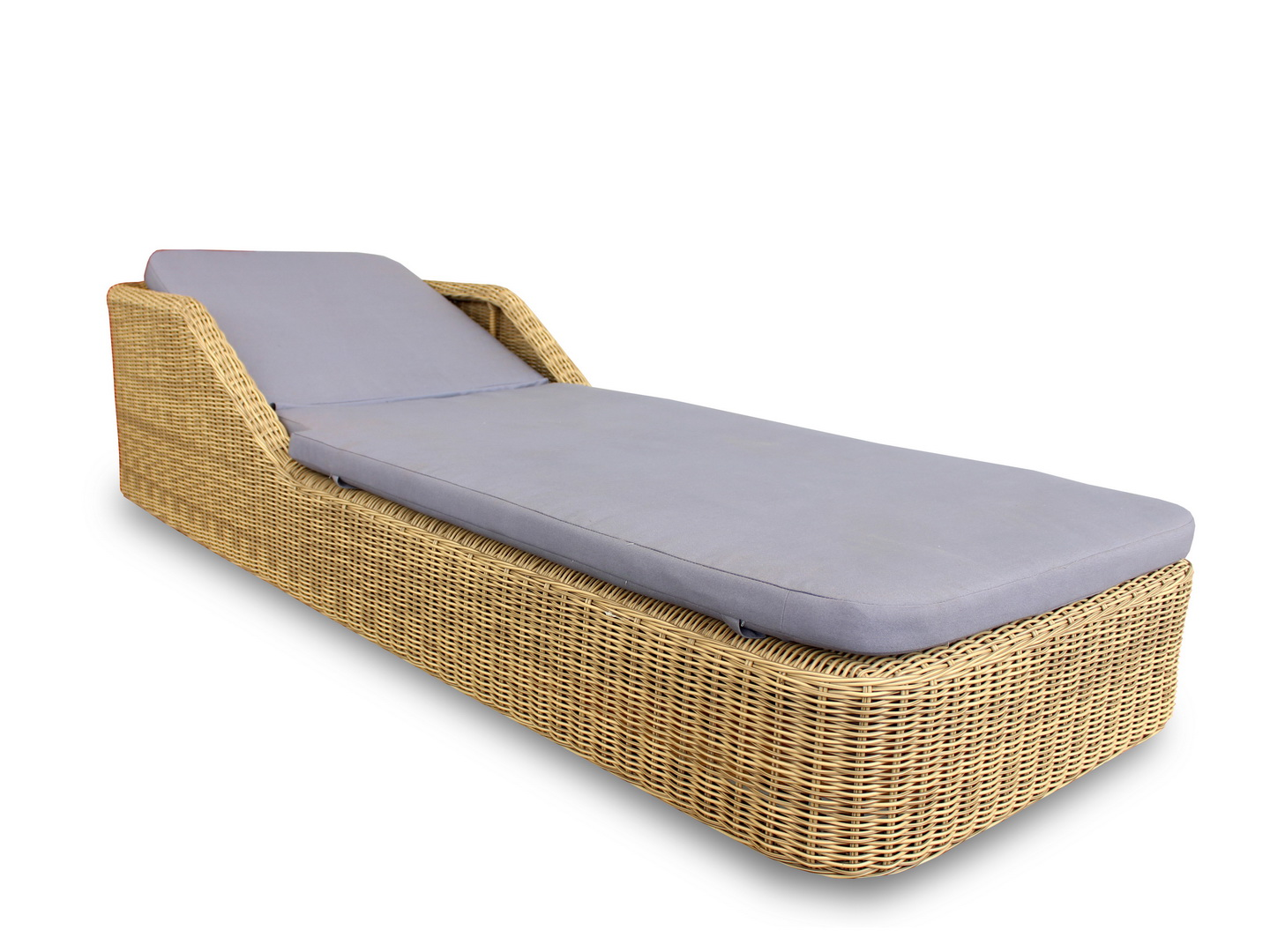 Kingsford Synthetic Rattan Sunbed